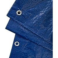 GardenMate 1,5 m x 6 m 90 g/m2 Lona de protección Universal azul/verde | Funda protectora | Lona impermeable