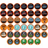 Two Rivers Coffee Medium Roast Coffee Pods, Compatible with 2.0 Keurig K-Cup Brewers, Assorted Variety Sampler Pack, 40 Count