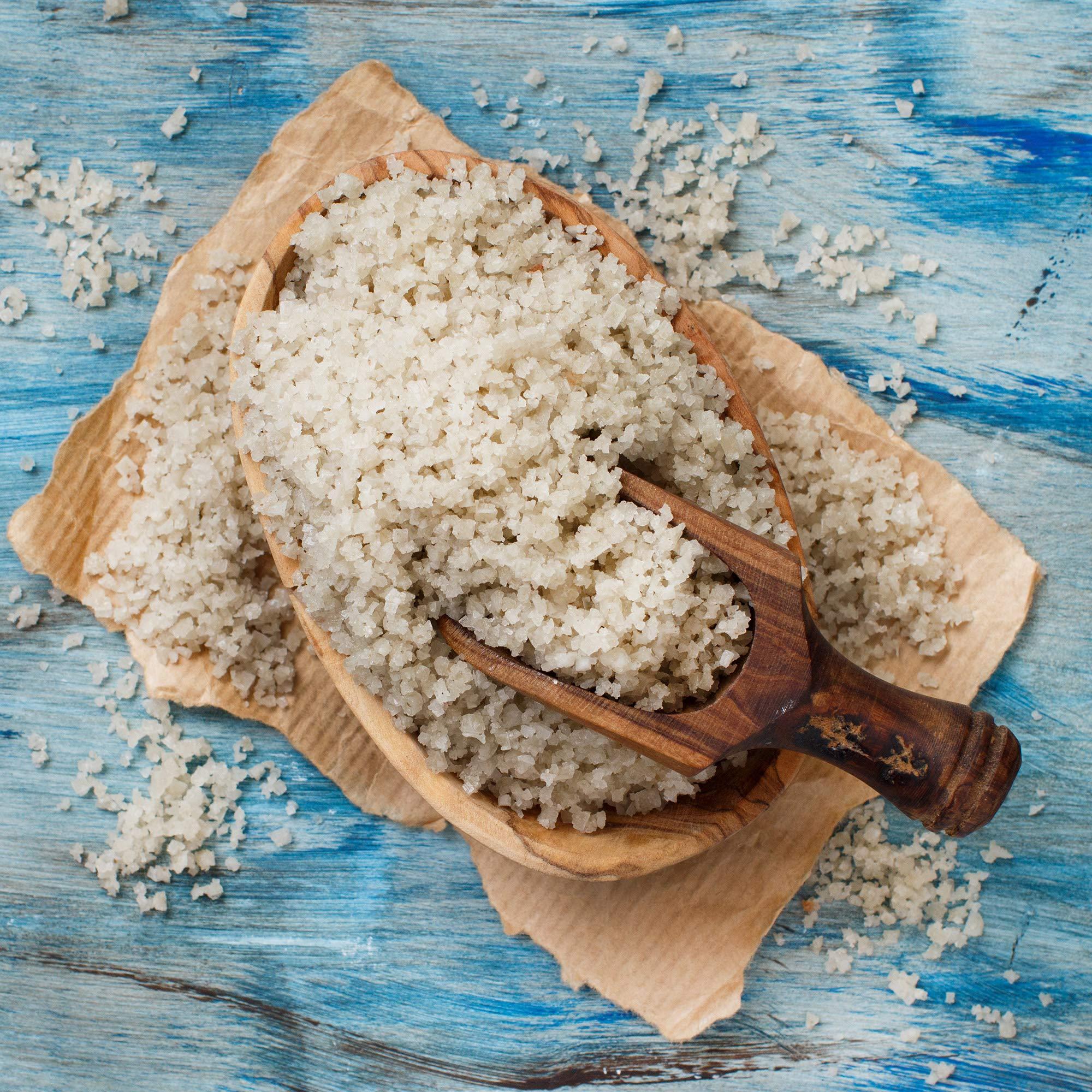 The Spice Lab No. 48 - French Grey Premium Gourmet Salt - Coarse - Gluten-Free Non-GMO All Natural Brand - 1 lb Resealable Bag