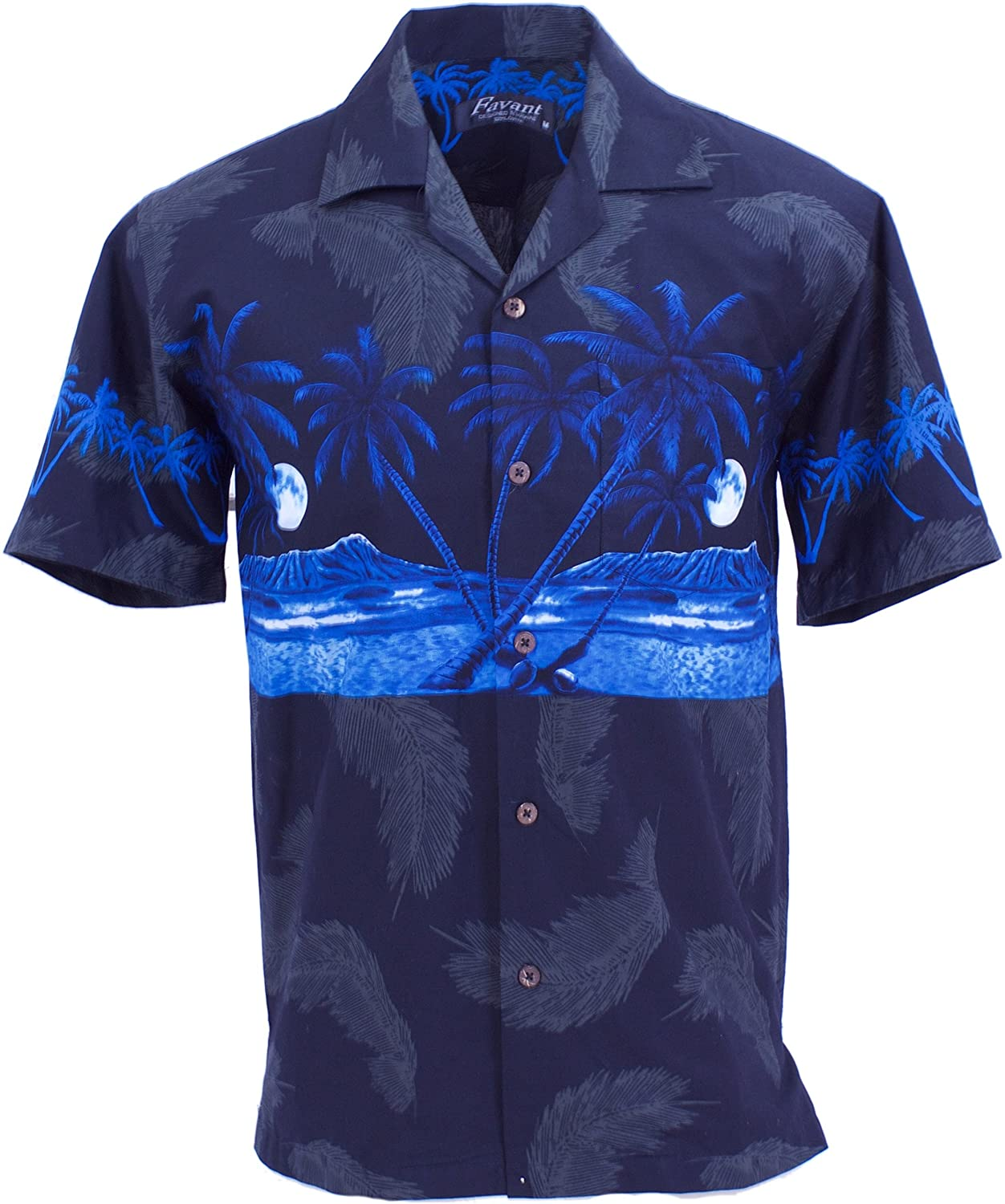 Tropical Luau Beach Palm Tree Print Men/'s Hawaiian Aloha Shirt
