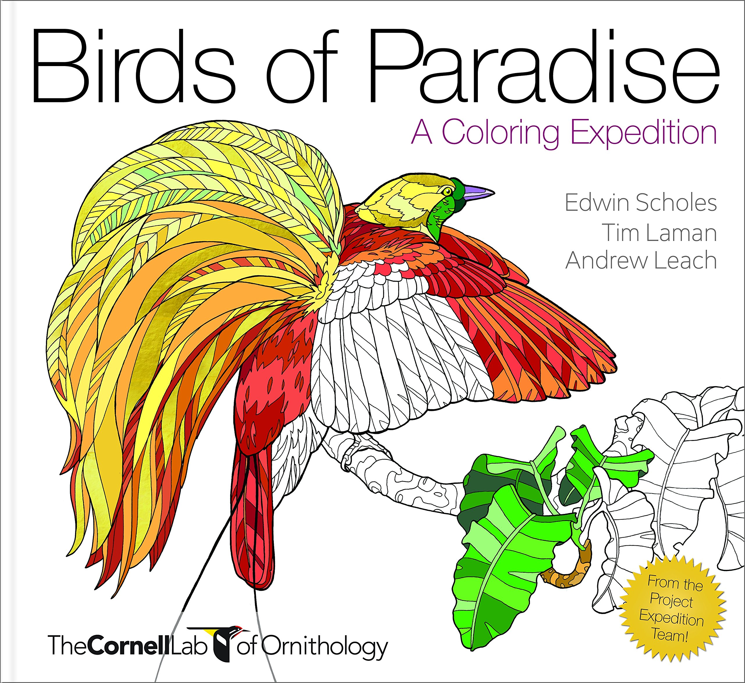 Amazon Birds Of Paradise A Coloring Expedition 9781943645381 Edwin Scholes Andrew Leach Tim Laman Books
