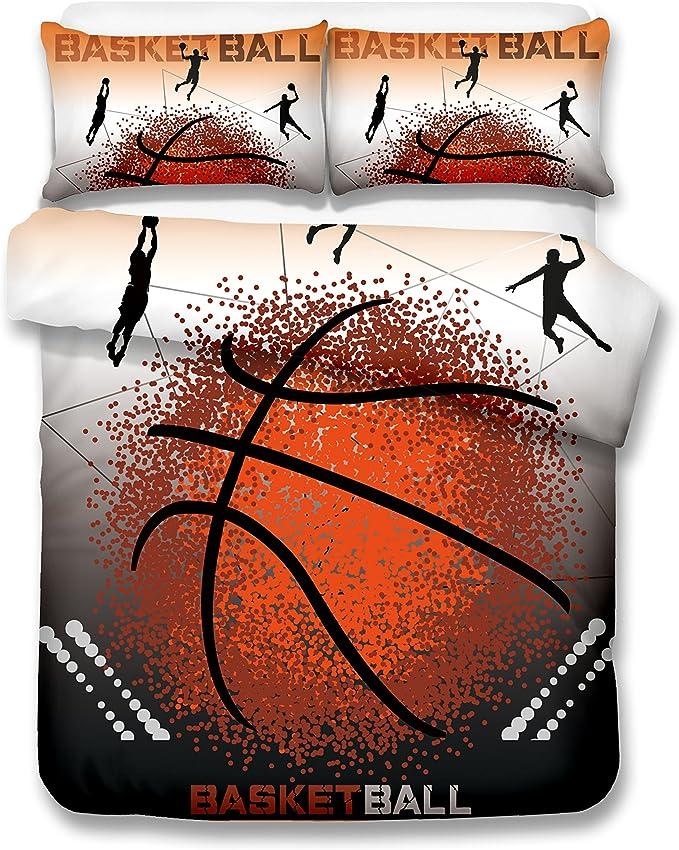 Juego de sábanas de baloncesto con impresión 3D realista de Cool ...