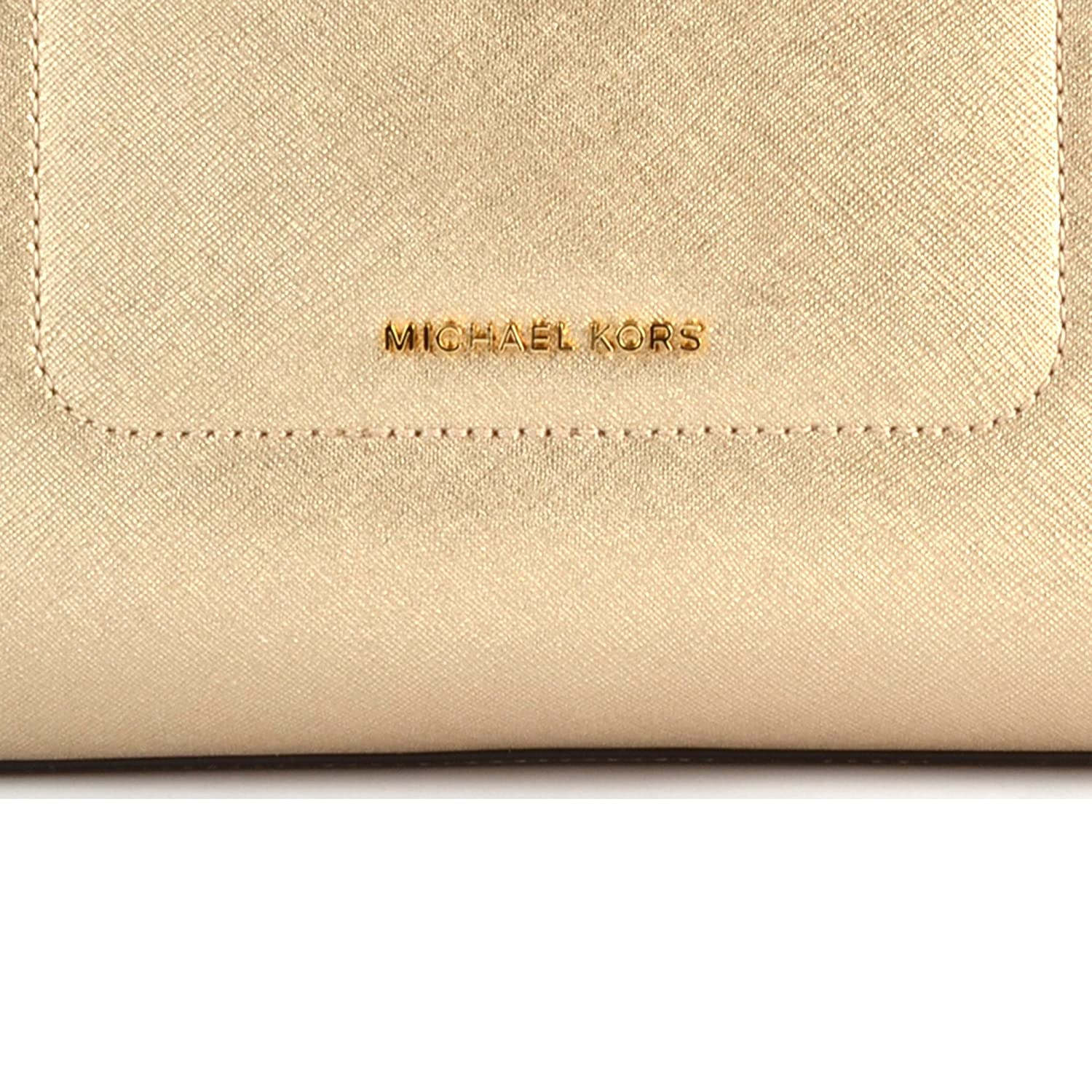 b866fd57829d MICHAEL by Michael Kors Walsh Pale Gold Leather Medium Tote Bag one size Pale  Gold: Amazon.co.uk: Shoes & Bags