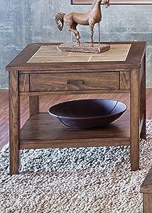 Liberty Furniture Industries Mesa Valley End Table, W24 x D25 x H24, Medium Brown