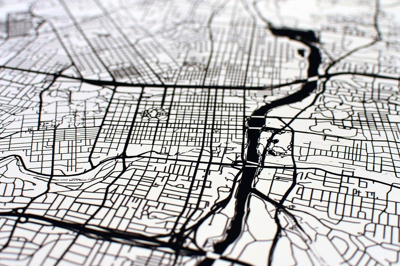 Amazon.com: Tijuana Map, Tijuana Art, Tijuana Print, Tijuana Mexico ...