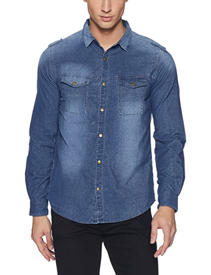 Spykar Men's Plain Slim Fit Corduroy Casual Shirt: Amazon.in: Clothing &  Accessories