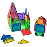 NEW! Jack & Roo Mag Builders 32 Piece Magnetic Tiles Set! 32-Piece Magnetic Blocks Set contains Two Magnetic Cars. This Magnetic Toy Set is great for Kids, Toddlers and Preschoolers for Building! …
