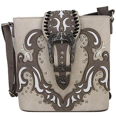 Amazon.com: Western style hebilla cinturones Cruz Cuerpo ...