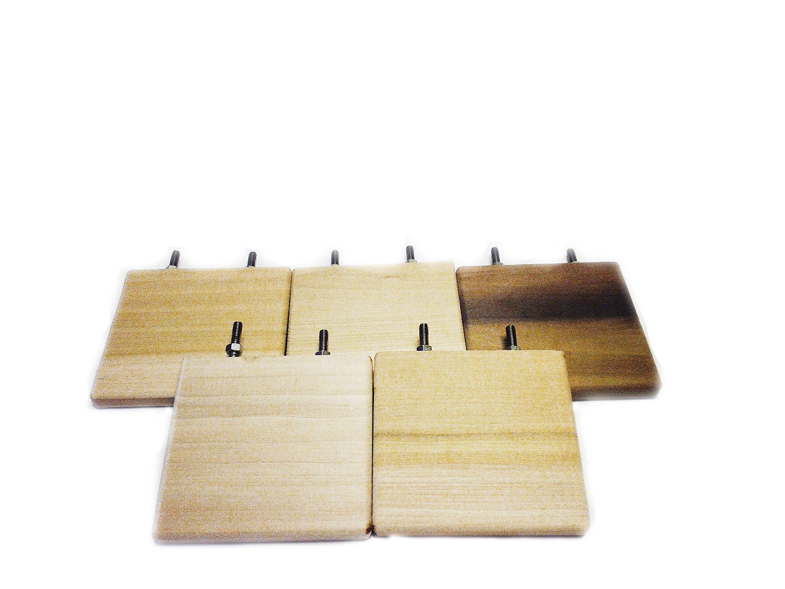 Heavenly Ledges large 6 inch poplar wood chinchilla shelves pack of 5