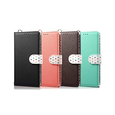 Coffee Wallet Case for iPhone Xs Max PU Leather Flip Cover Compatible with iPhone Xs Max
