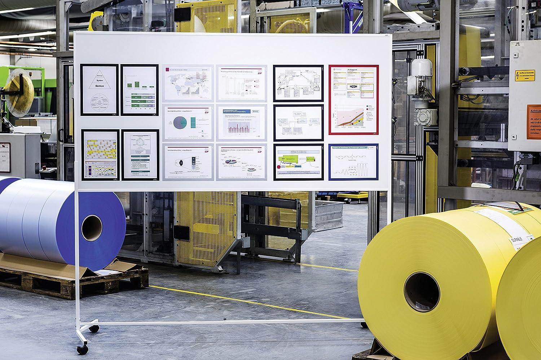 Durable 498823 Argento Metallizzato Formato A4 Confezione da 1 Pezzo Duraframe Magnetic Cornice Espositiva a Fissaggio Magnetico