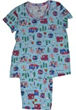RV There Yet? RV's All Over Blue 2 Piece Knit Pajama Sleep Set