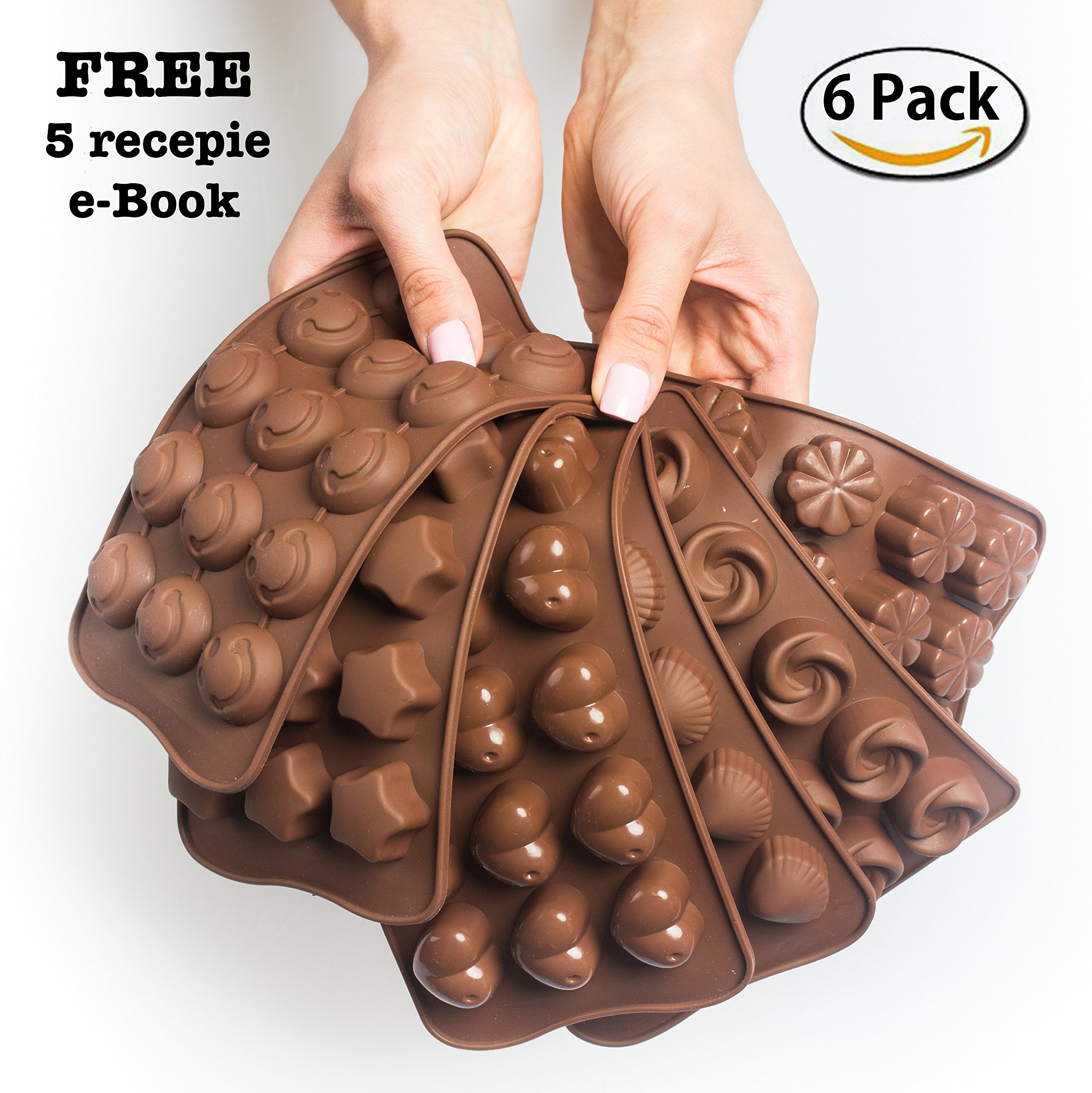6 Pack Silicone Candy Molds + EBook With 5 Candy Recipes - Silicone Molds For Fat Bombs - Candy Molds Silicone - Chocolate Molds Silicon Molds Candy Mold Silicon Mold Hard Candy Molds Fat Bomb Molds by Mighty Cleaner (Image #8)