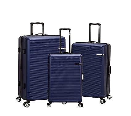 d297dfe216cf Amazon.com | Rockland Skyline 3 Piece Abs Non-Expandable Luggage Set ...
