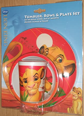 Disneyu0027s The Lion King Breakfast Set. Tumbler Bowl and Plate Childs Gift Set  sc 1 st  Amazon UK & Disneyu0027s The Lion King Breakfast Set. Tumbler Bowl and Plate Childs ...