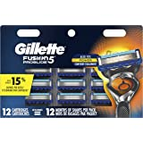 Gillette Fusion5 ProGlide Men's Razor Blade Refills, 12 Count, Mens Fusion Razors / Blades