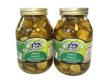 Amish Wedding Foods.Amish Wedding Foods Sweet Garlic Dill Pickles 2 32 Oz Quarts All Natural