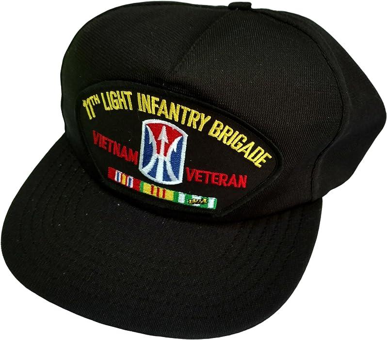 8aa7a009e20 HMC US Army 11th Light Infantry Brigade Vietnam Veteran w Ribbons Ball Cap
