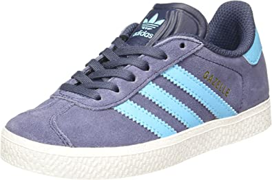 asesinato harina Impedir  Adidas Originals Trainers - Adidas Originals Gazelle C Shoes - Midnight  Grey/Bright Cyan/Gold Metallic: Amazon.fr: Chaussures et Sacs