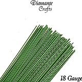 "Stub Wire - Green Florist Wires - 12"" Inch (30 cm)- Choose from 18 19 20 22 24 26 28 gauge (12"" - 18 Gauge - Green)"