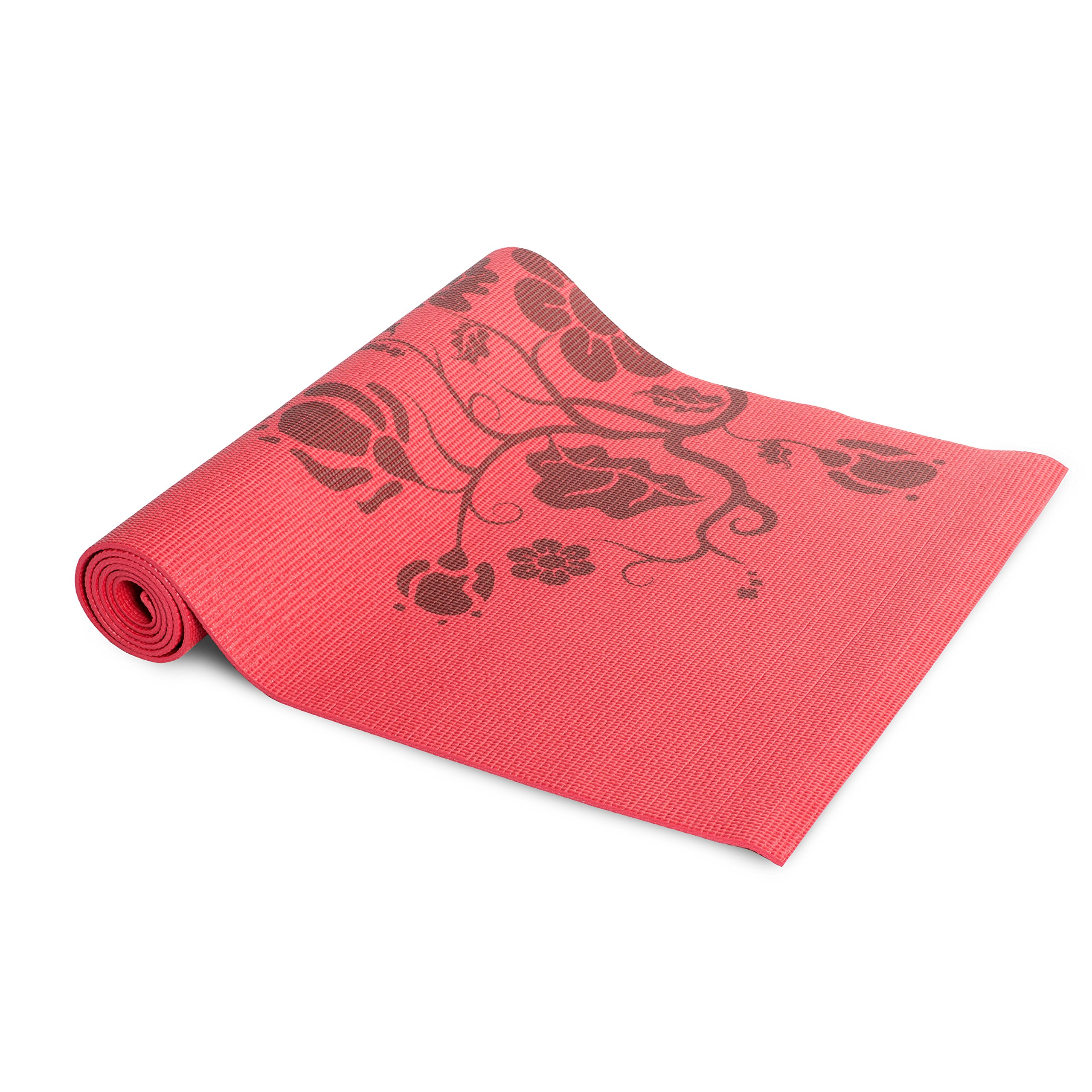 Tone Fitness Yoga Mat With Floral Pattern Exercisen