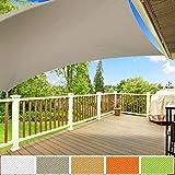 Voile d'ombrage carré casa pura® gris | résistante, épaisse | imperméable, lavable en machine | 3x3m