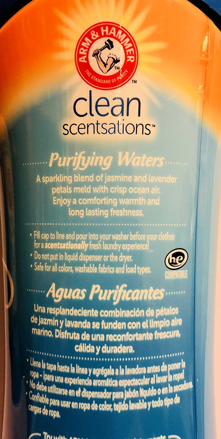Amazon.com: Arm & Hammer Clean Scentsations - In-Wash Scent Booster - Purifying Waters - Net Wt. 18 OZ (510 g) Per Bottle - Pack of 2 Bottles: Health ...