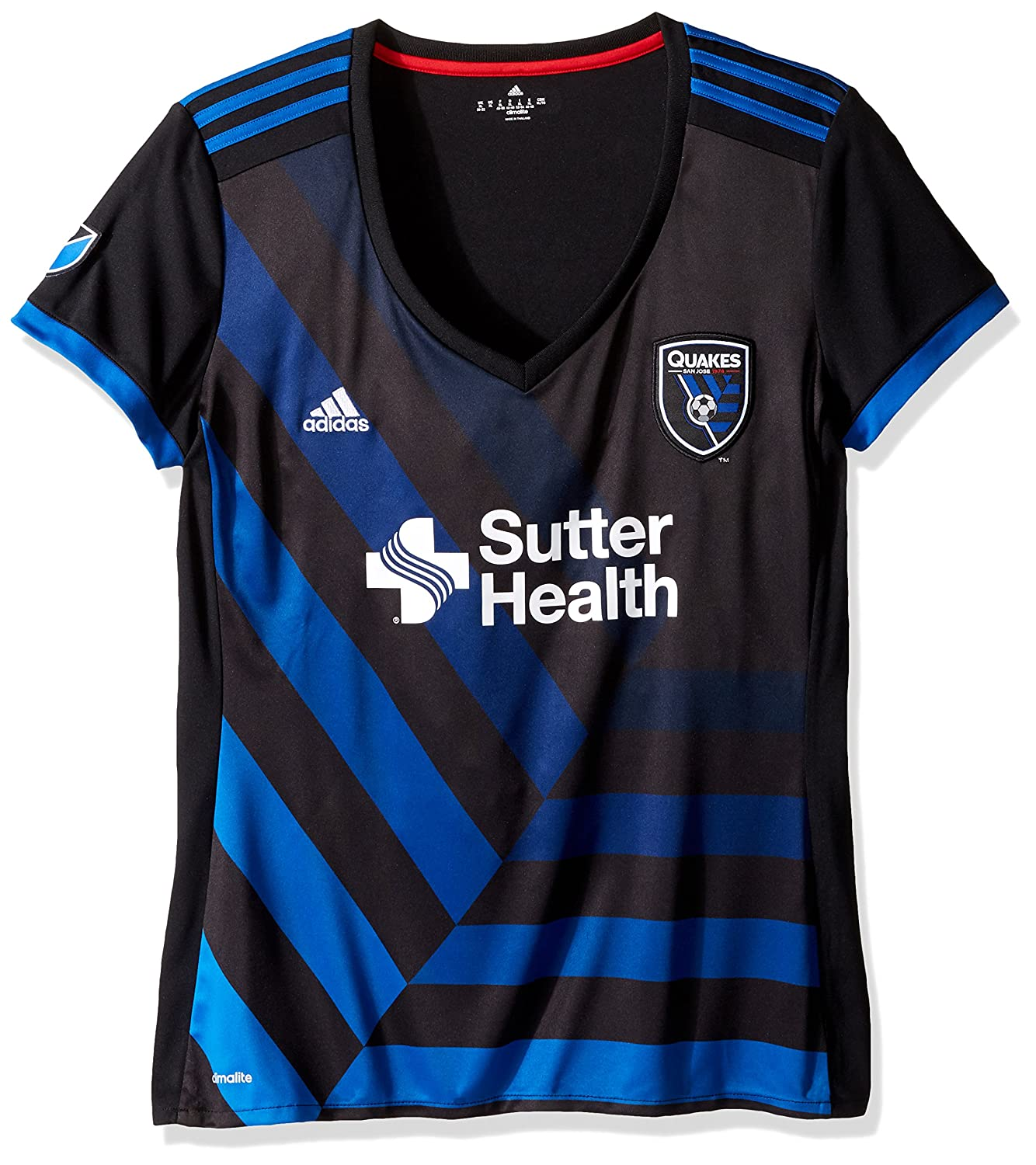 newest collection 00d89 67d71 adidas San Jose Earthquakes Women's Jersey Home Replica Soccer Jersey