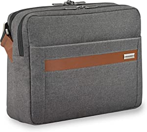 Briggs & Riley Kinzie Street-Micro Messenger Laptop Bag, Grey, One Size