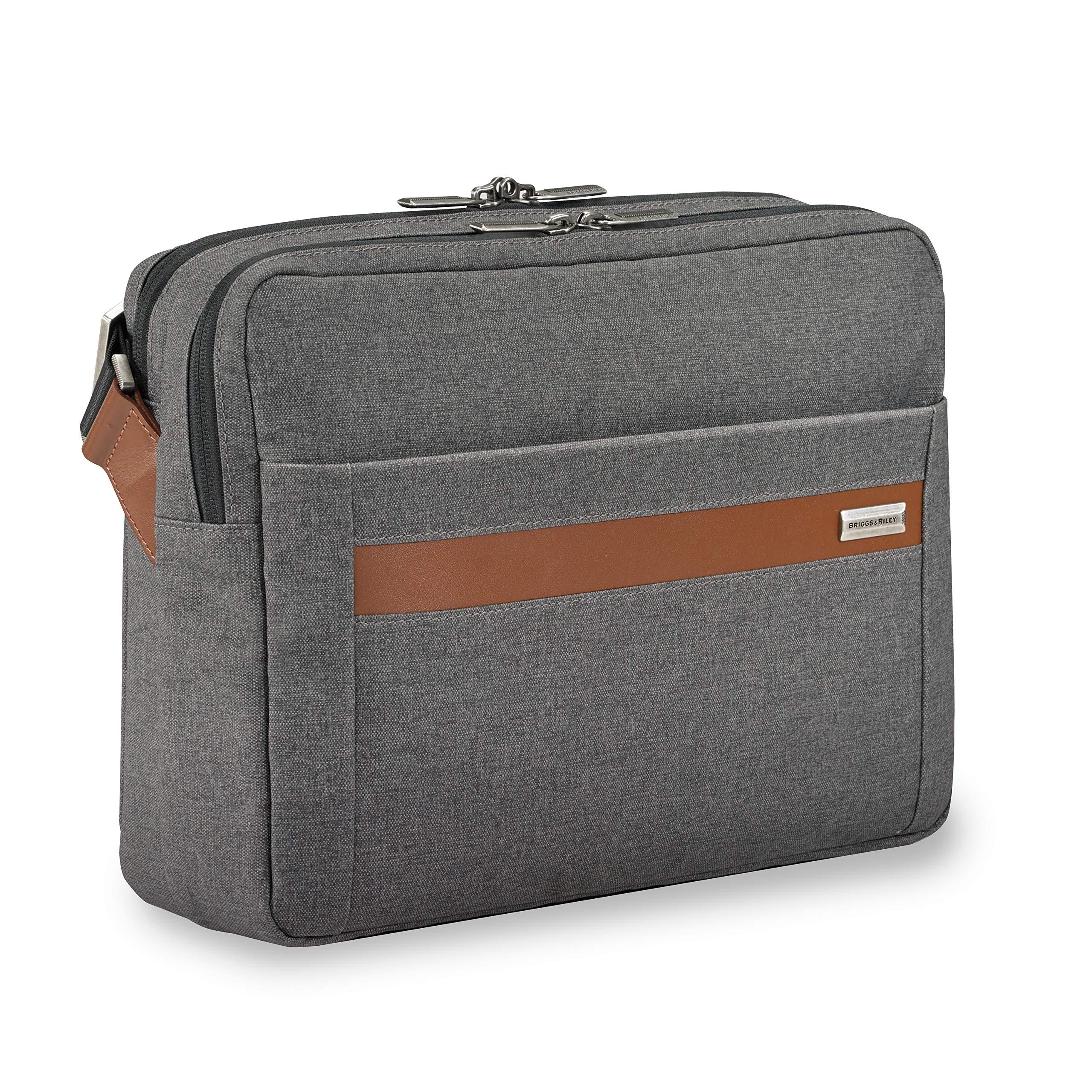 Briggs & Riley Kinzie Street Micro Messenger Laptop Bag, Grey, One Size