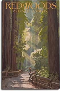 product image for Redwoods Park, California - Pathway in Trees (10x15 Wood Wall Sign, Wall Decor Ready to Hang)