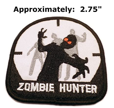 Zombie Hunter - Parche bordado para coser o planchar de ...