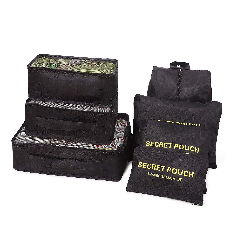 34b313533 Bolsas de compresión de equipaje 7 Set de Organizador de Equipaje Packing  Cube Organizadores de viaje ...