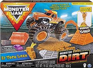 Monster Jam, El Toro Loco Monster Dirt Deluxe Set, Featuring 16oz of Monster Dirt & Official 1: 64 Scale Die-Cast Truck