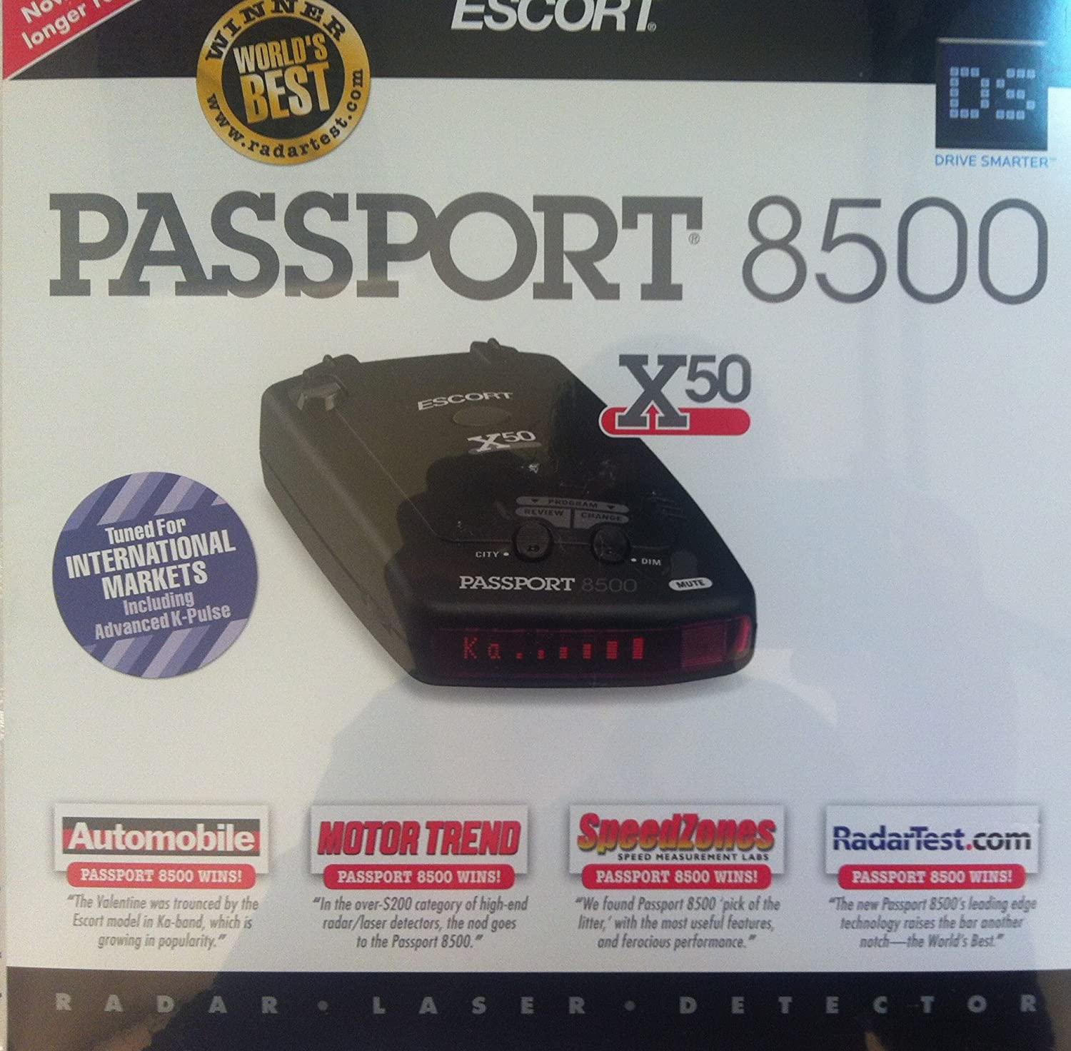 Escort Passport 8500 X50 intl détecteur de radar Amazon High tech