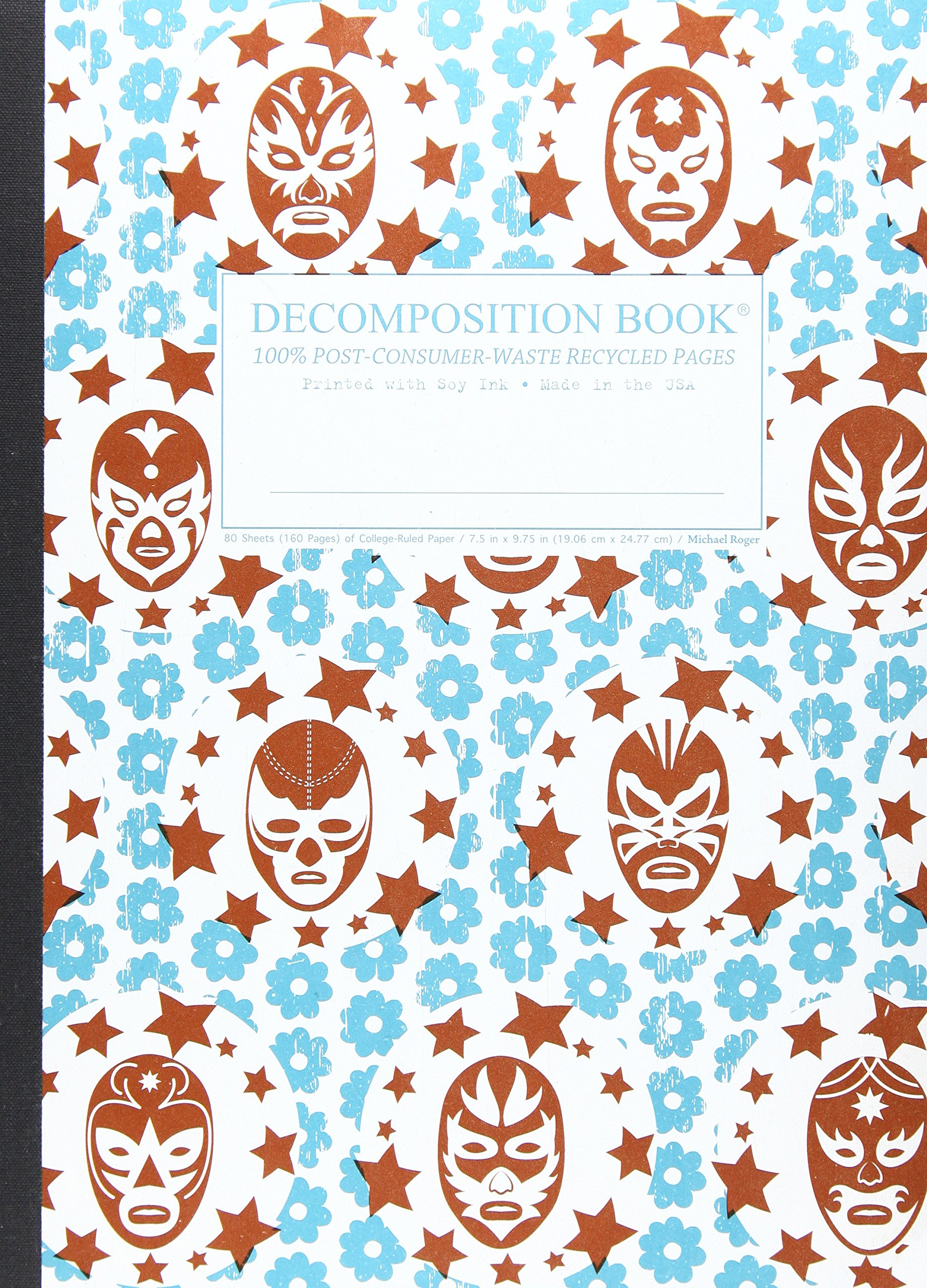 Lucha Libre Large 2 Color Decomposition Ruled Book ebook