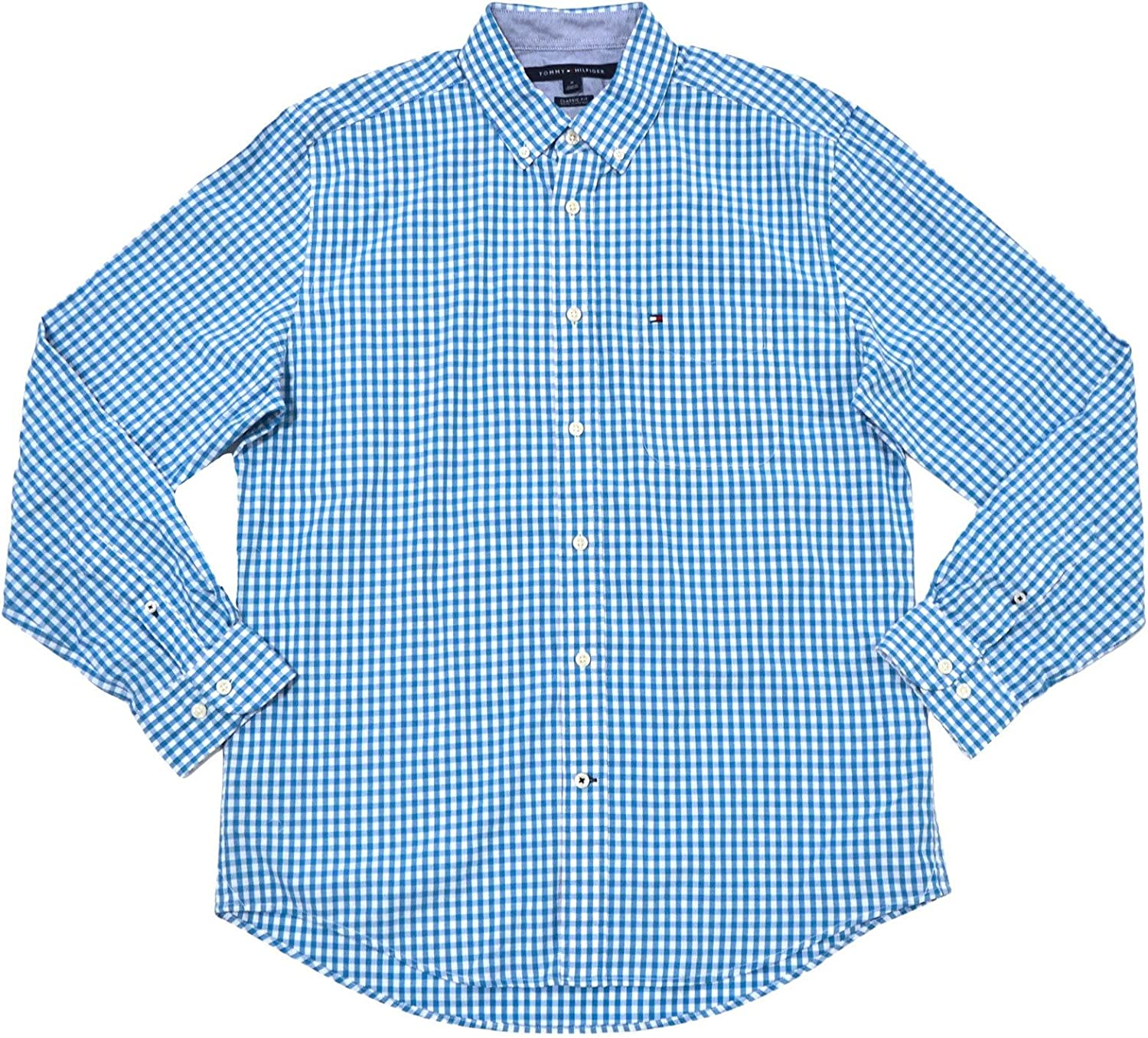 Tommy Hilfiger Mens Classic Fit Long Sleeve Gingham Buttondown