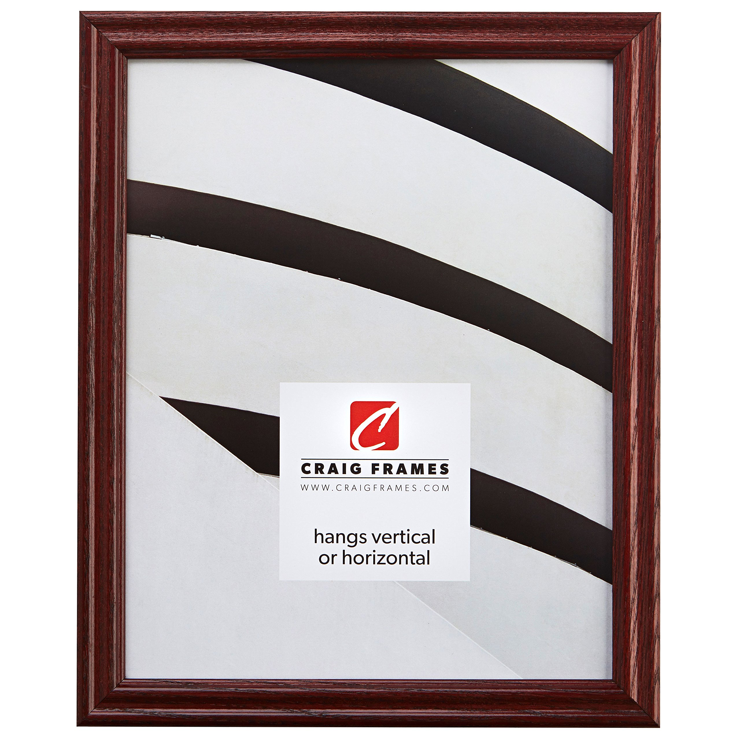 16x21 Picture/Poster Frame, Wood Grain Finish.75'' Wide, Cherry Red (200ASHCH)