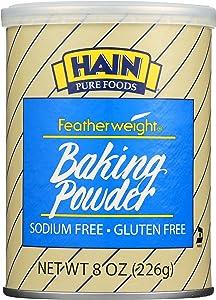 Hain Pure Foods Gluten-Free Featherweight Baking Powder, 8 oz. (Pack of 4)