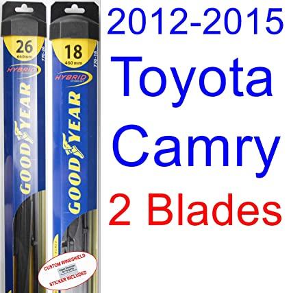 What Size Windshield Wipers >> 2012 2015 Toyota Camry Replacement Wiper Blade Set Kit Set Of 2 Blades Goodyear Wiper Blades Hybrid 2013 2014