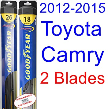 how to change wiper blades toyota camry 2012