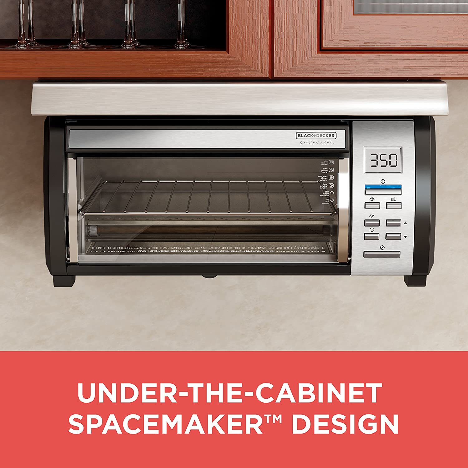 Kitchen tv under cabinet - Amazon Com Black Decker Tros1000d Spacemaker Under The Cabinet 4 Slice Toaster Oven Black Stainless Steel Under The Counter Toaster Oven Kitchen