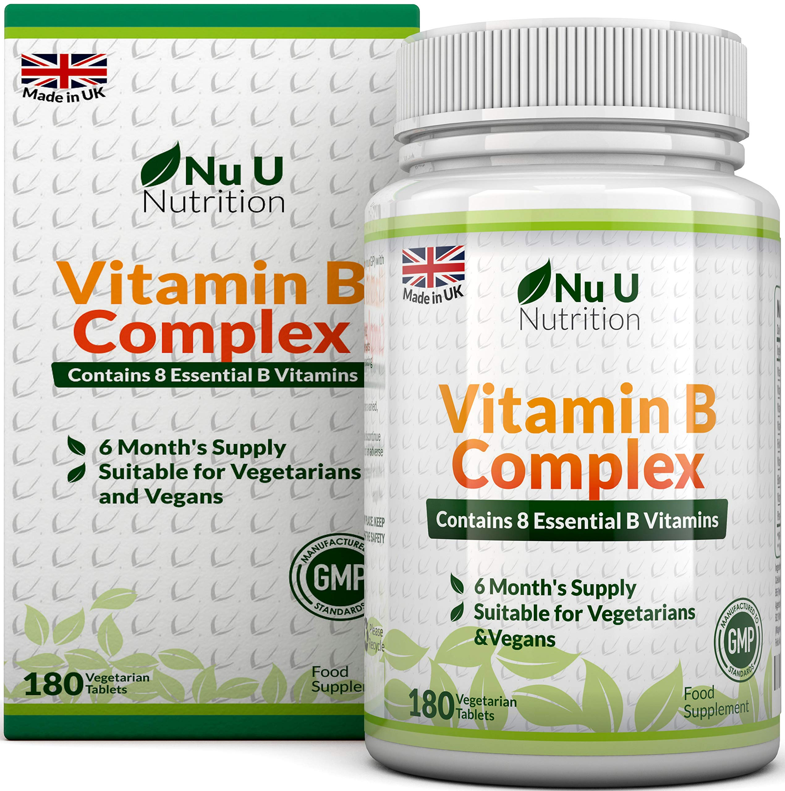 Vitamin B Complex 180 tablets 6 Month Supply Vegetarian & Vegan product image