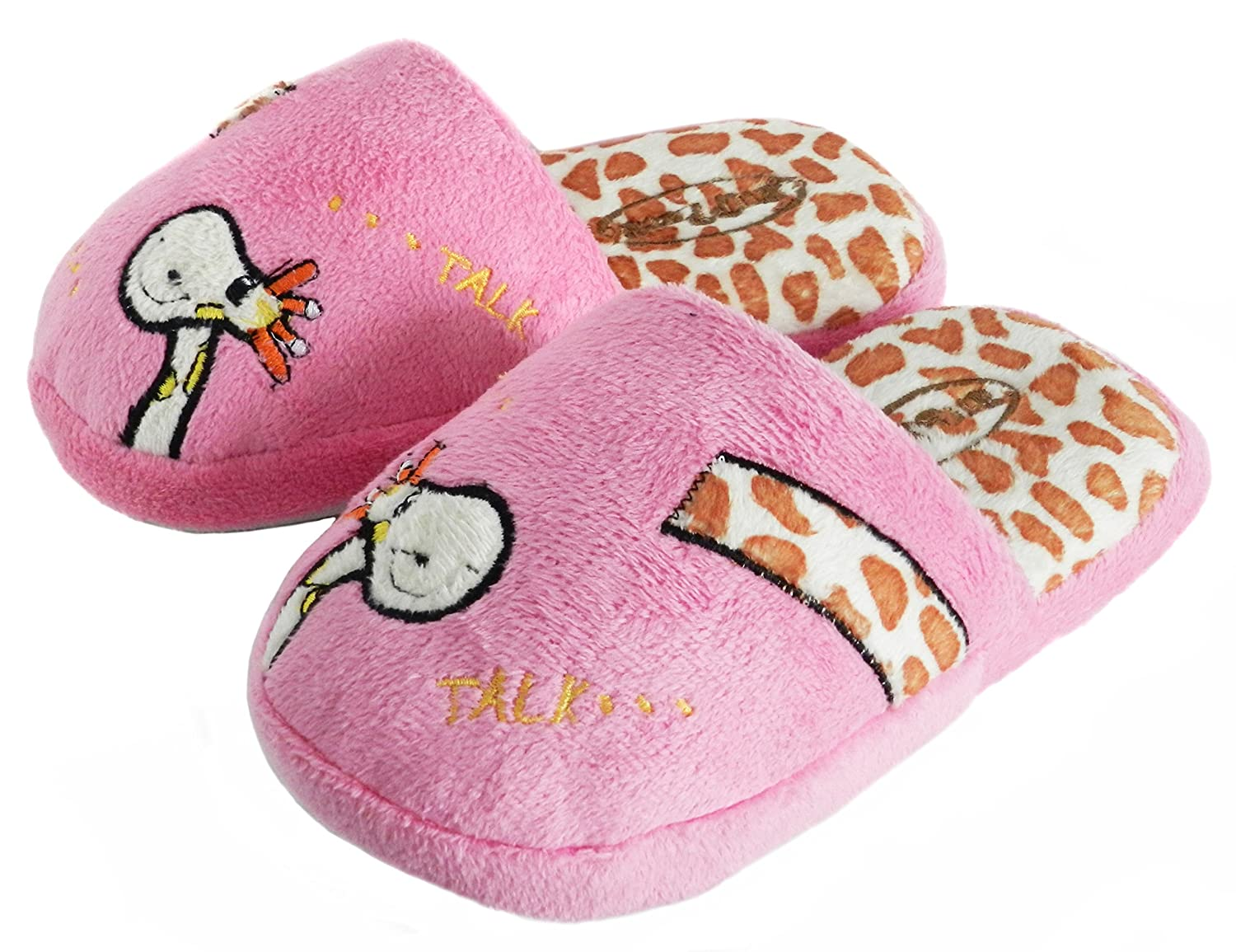 Toddler Kid Winter Slippers, Giraffe Print Giraffe Print (7.5-8.5 Blue)
