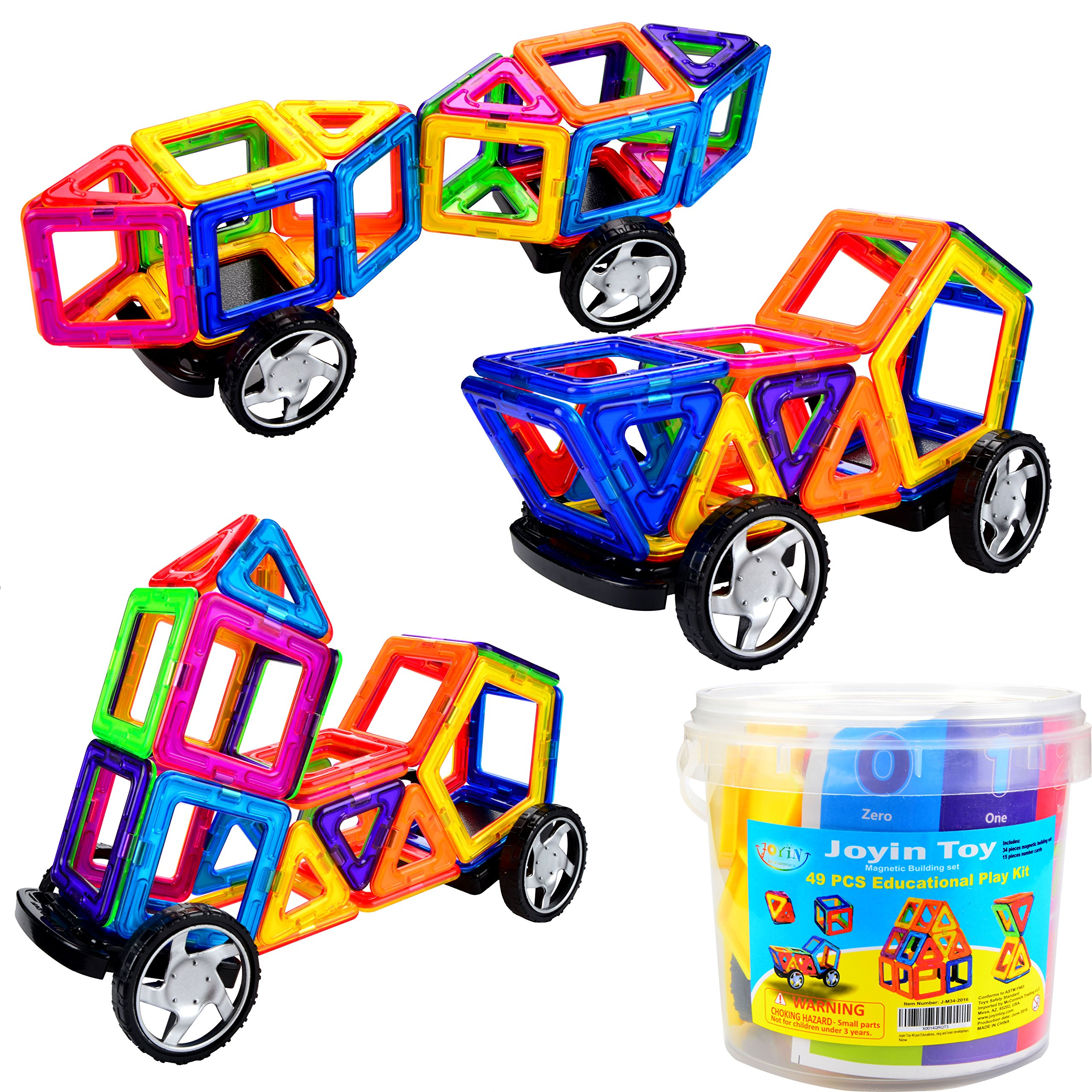 Joyin Toy 49 Pieces Magnetic Building Set Educational Play Kit In Plastic Pac.. 12