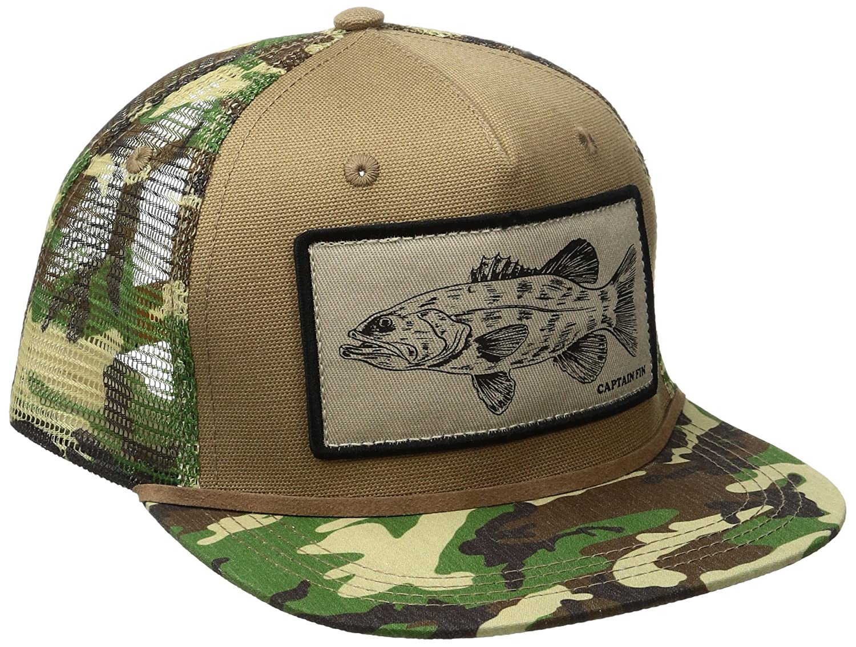 469fd3cab Captain Fin Co. Mens Fish Sauce Trucker Hat Baseball Cap - Green ...