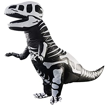 Amazon.com: Kids Giant Skeleton Inflatable Dinosaur Costume ...
