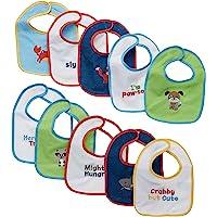Neat Solutions 10 Pack Water Resistant Drooler Bib Set, Multi-color