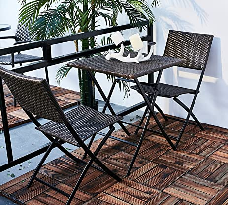 Oakville Furniture Parma Style Rattan Patio Bistro Set Weather Resistant Outdoor Furniture Sets with Rust & Amazon.com: Oakville Furniture Parma Style Rattan Patio Bistro Set ...