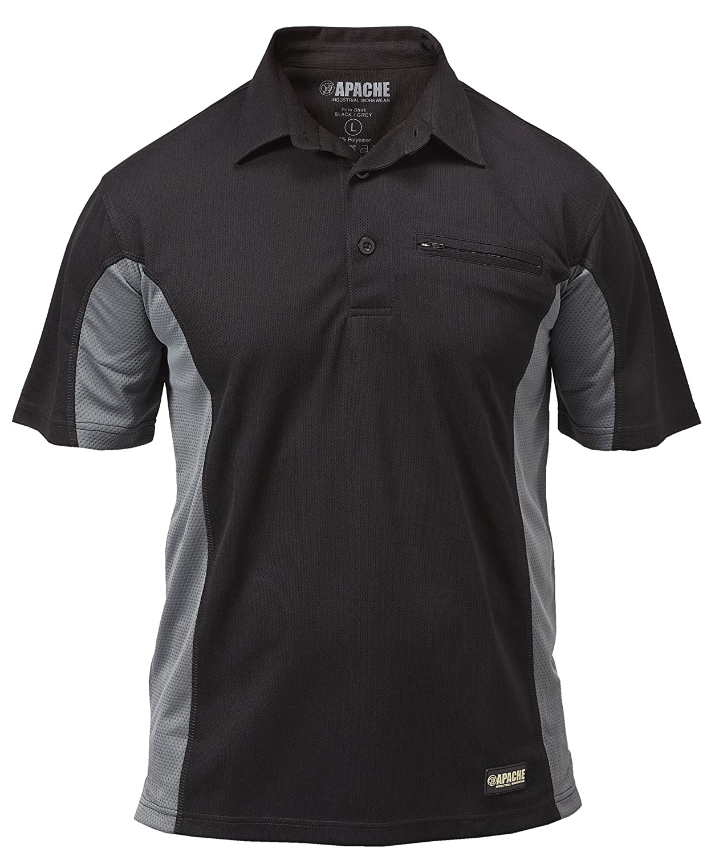 Apache Dry - Polo para hombre, tamaño M, color negro APADMPM